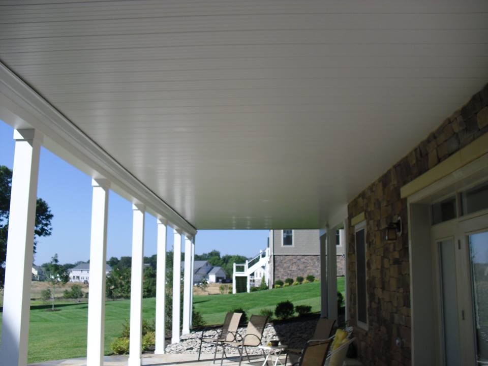 under decking system to convert area under deck into a spacious patio